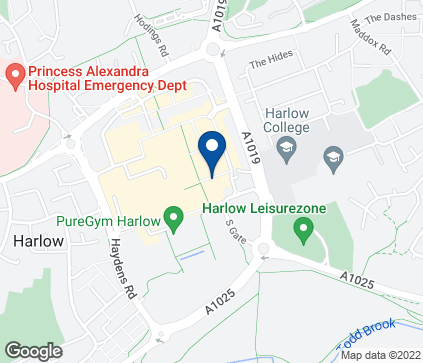 Map of 37 Broadwalk in Harlow