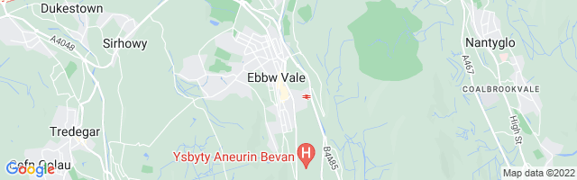 Map Of Ebbw Vale
