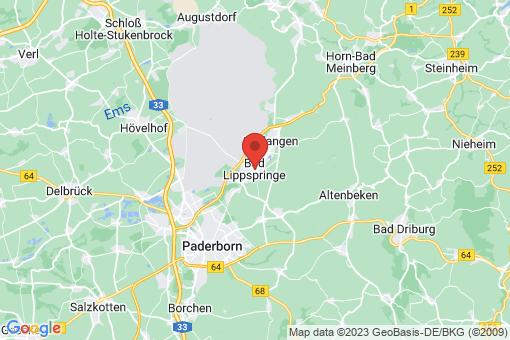 Karte Bad Lippspringe