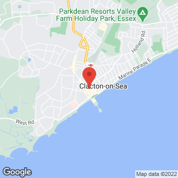 Map of Wimpy Clacton-on-Sea at 18 Station Road, Clacton-On-Sea, Essex CO15 1SX