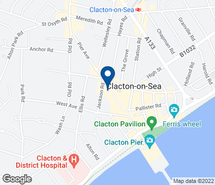 Map of 77-79 Pier Avenue in Clacton on Sea
