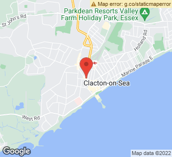 Map of Just Flowers at 70 Pier Avenue, Clacton-On-Sea, Essex CO15 1NH