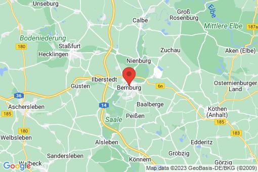 Karte Bernburg