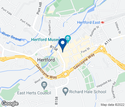 Map of 27 Maidenhead Street in Hertford