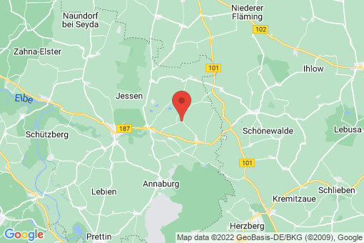 Karte Jessen (Elster) Großkorga
