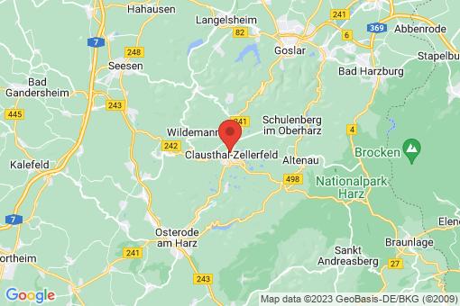 Karte Clausthal-Zellerfeld