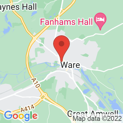 Map showing Ware Coffee Lab
