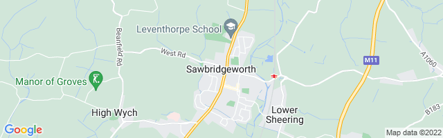 Map Of Sawbridgeworth
