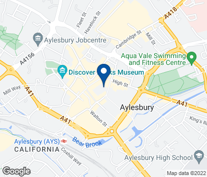 Map of 4 Hale Leys High Street in Aylesbury