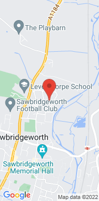 Map showing the location of the East Herts Sawbridgeworth Background [Closed] monitoring site