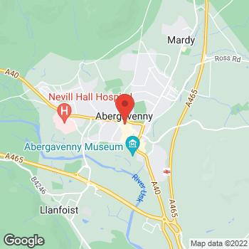 Map of wilko Abergavenny at 9 Cibi Walk, Abergavenny,  NP7 5AJ