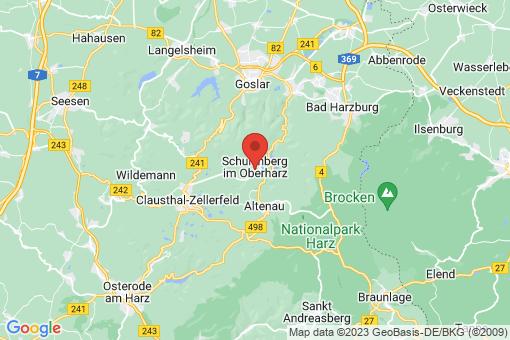 Karte Schulenberg im Oberharz