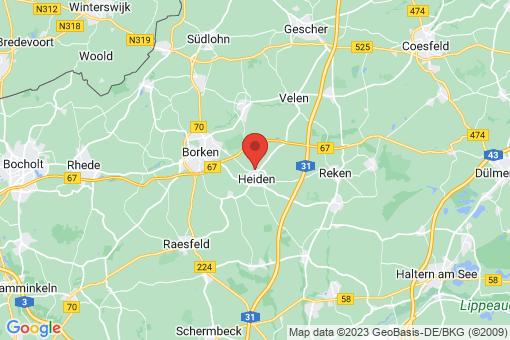 Karte Heiden