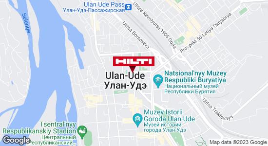 Get directions to Региональный представитель Hilti в г. Улан-Удэ