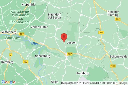 Karte Jessen (Elster) Leipa
