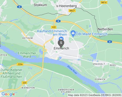 Google Karte von Schlüsseldienst Emmerich