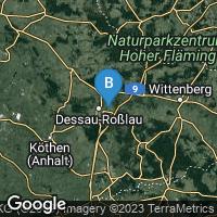 Lagekarte von Dessau-Roßlau OT Waldersee