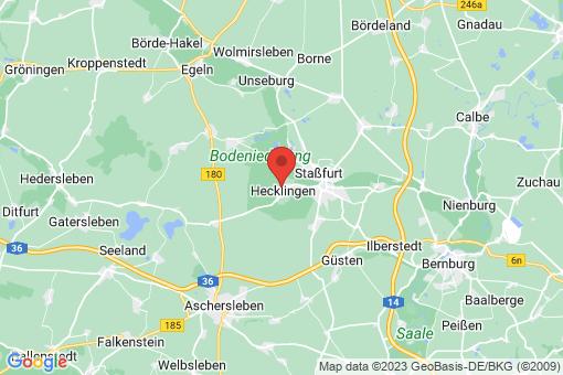 Karte Hecklingen bei Staßfurt