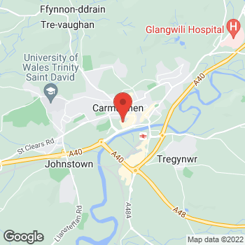 Map of wilko Carmarthen at Friars Park, Carmarthen,  SA31 3AN