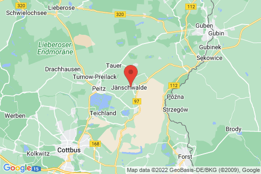 Karte Jänschwalde