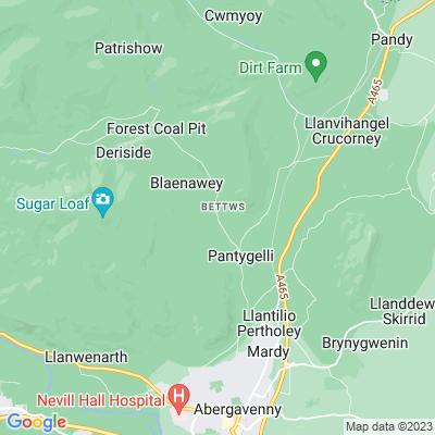 Abergavenny Priory Deer Park Location