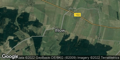 Google Map of Ihlow bei Jüterbog