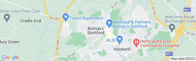 Map Of Bishop Stortford