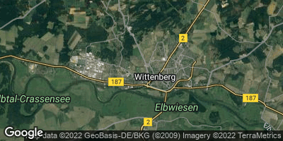 Google Map of Lutherstadt Wittenberg