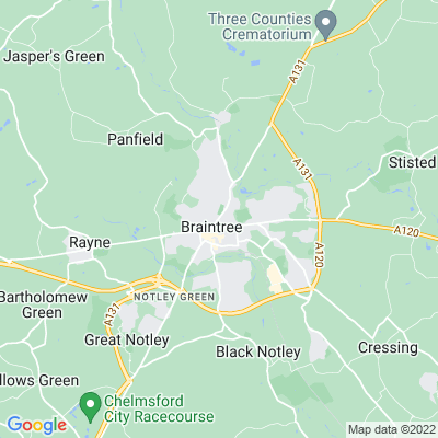 Braintree and Bocking Public Gardens Location