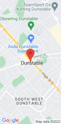 Map showing the location of the South Beds Dunstable [Closed] monitoring site