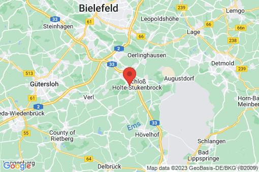 Karte Schloß Holte-Stukenbrock