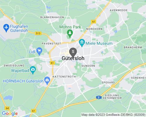 Google Karte von Schlüsseldienst Gütersloh
