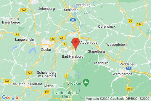 Karte Bad Harzburg Westerode