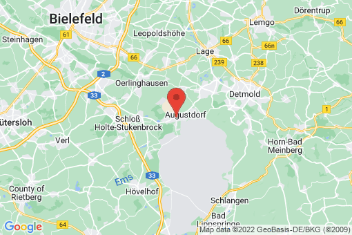 Karte Augustdorf