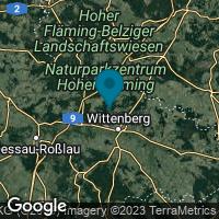 Lagekarte von Lutherstadt Wittenberg OT Nudersdorf