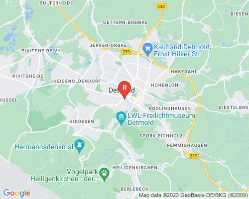 Google Karte von Rohrreinigung Detmold