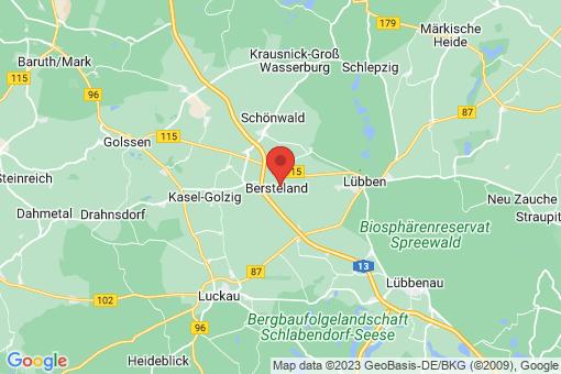 Karte Bersteland Niewitz