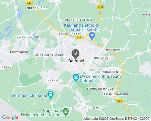 Google Karte von Schlüsseldienst Detmold