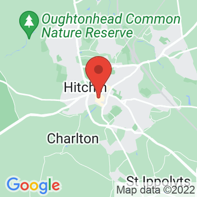 Map showing Hitchin Coffee Lab
