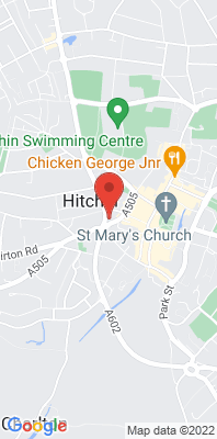 Map showing the location of the North Herts Hitchin Library [Closed] monitoring site
