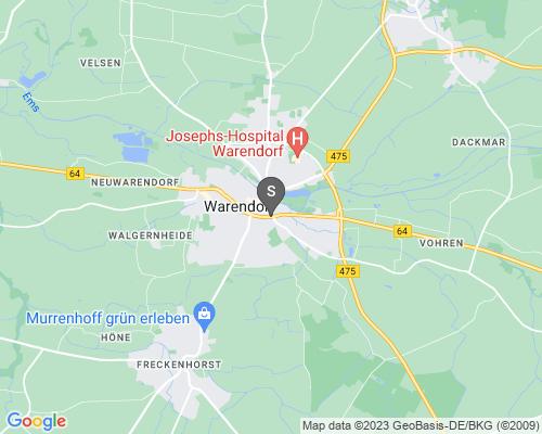 Google Karte von Schlüsseldienst Warendorf