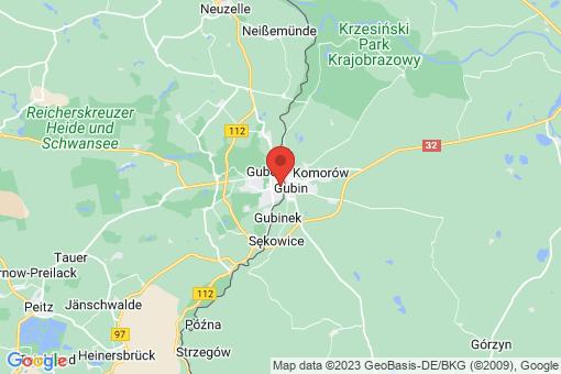 Karte Guben