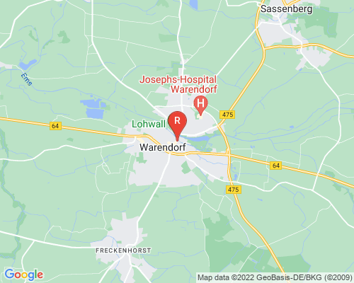 Google Karte von Rohrreinigung Warendorf