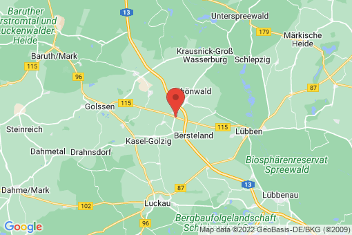 Karte Bersteland Freiwalde