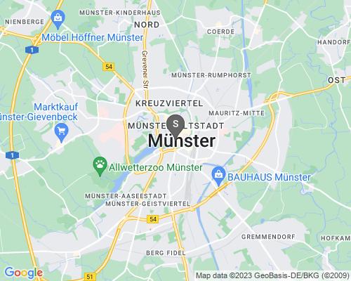 Google Karte von Schlüsseldienst Münster