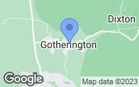 Map of Cheltenham, Gloucestershire