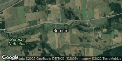 Google Map of Bornum bei Zerbst