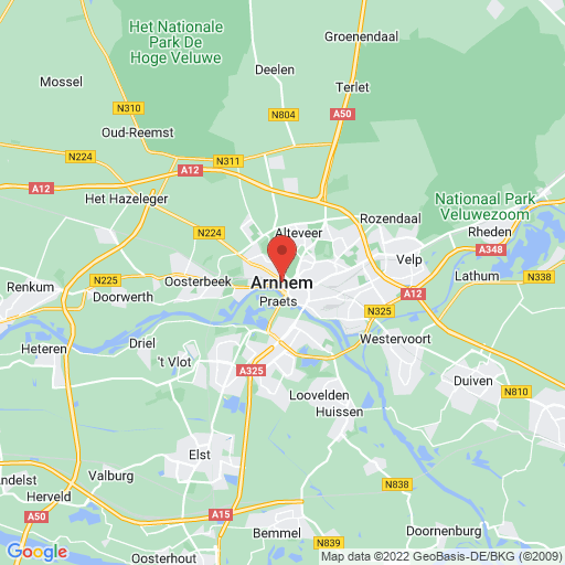Arnhem Handball Cup map