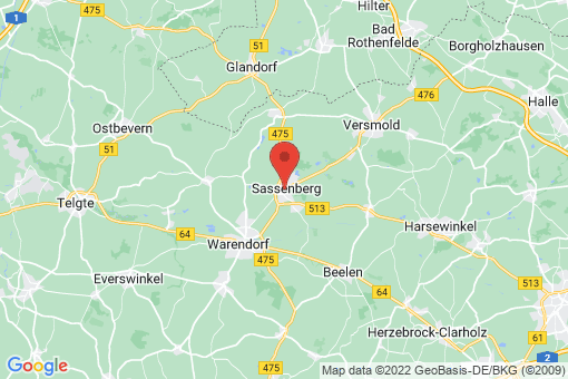 Karte Sassenberg