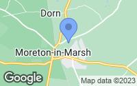Map of Moreton-in-Marsh, Gloucestershire